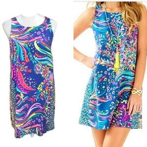 Lily Pulitzer Jackie Shift Dress Beach Loot Print